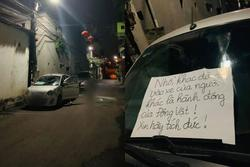 Đỗ xe qua đêm bị người lạ làm bẩn, chủ xe liền 'chửi xéo' với nội dung sốc