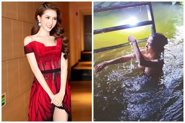 Bị chê quay cảnh tắm tiên lộ nửa ngực cực nhạy cảm trong phim 16+, Hoa hậu Phan Thị Mơ đáp trả
