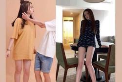 Linh Ka khoe giảm còn 39kg, hết vía khi nhìn xuống đôi chân