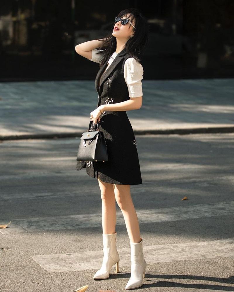 Lệ Quyên sang chảnh với công thức all white - Tóc Tiên lên đồ Retro đẹp ngất ở Đà Lạt-10