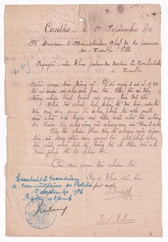 Trầm trồ tờ đơn xin dựng rạp cưới thời cha ông ta với nét chữ đẹp, câu văn trang trọng-1