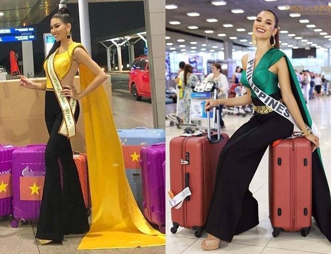 Trang phục xuất trận Miss Grand của Ngọc Thảo bị soi giống Catriona Gray-5