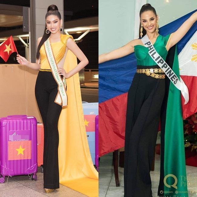 Trang phục xuất trận Miss Grand của Ngọc Thảo bị soi giống Catriona Gray-6