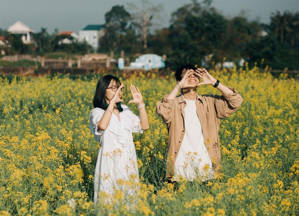 Vườn hoa cải thơ mộng ở Huế-7