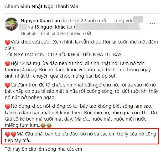 Xuân Lan gọi Huy Trần là bồ của Ngô Thanh Vân, tiết lộ sắp có clip cầu hôn?-1