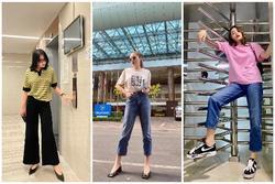 Hoa hậu Kỳ Duyên là chuyên gia mặc quần dài, đi giày thấp nhưng hack dáng đỉnh cao