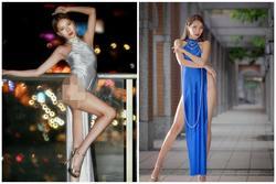 Nữ người mẫu gây phẫn nộ vì mặc áo dài quên quần phản cảm