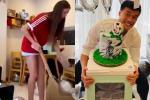 Bạn gái mẫu Tây 'lột xác' trong ngày sinh nhật Bùi Tiến Dũng