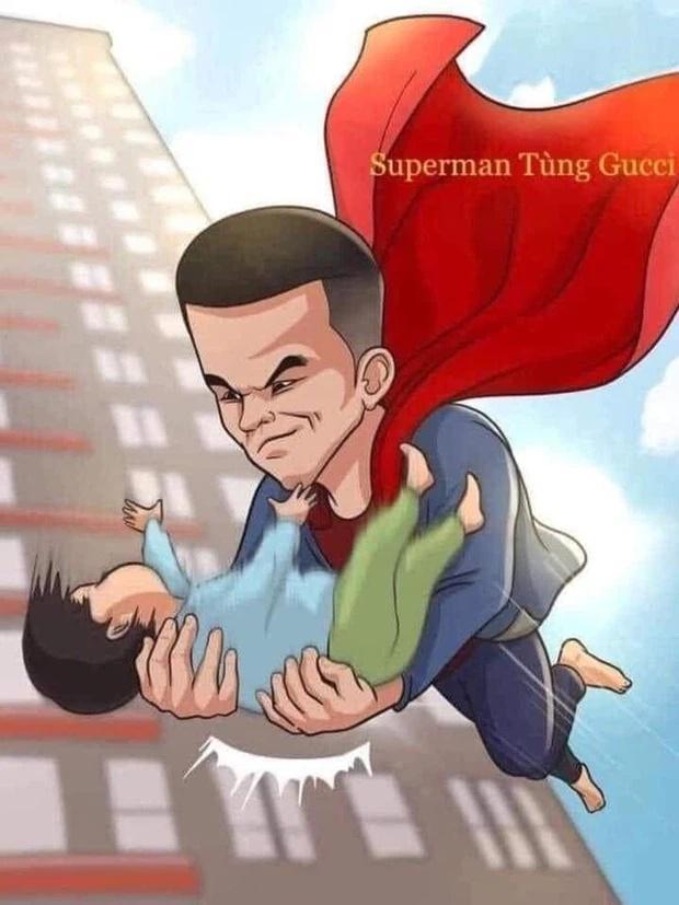 Dân mạng vẽ tranh thay lời cảm ơn siêu nhân giao hàng cứu bé gái rơi từ tầng 13-3