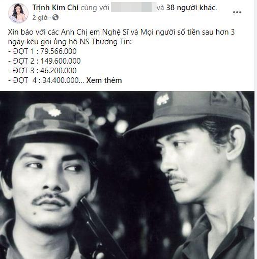 Trịnh Kim Chi công khai số tiền quyên góp ủng hộ nghệ sĩ Thương Tín-2