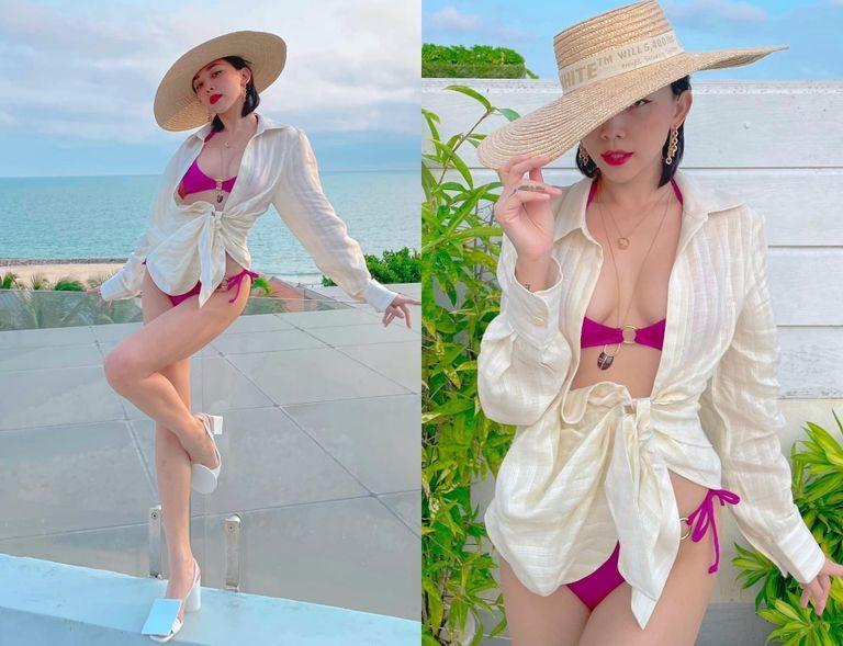 3 kiểu áo mix cùng bikini vừa đẹp vừa sang như Tóc Tiên, Hà Hồ-4