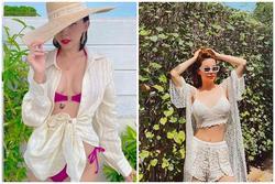 3 kiểu áo mix cùng bikini vừa đẹp vừa sang như Tóc Tiên, Hà Hồ