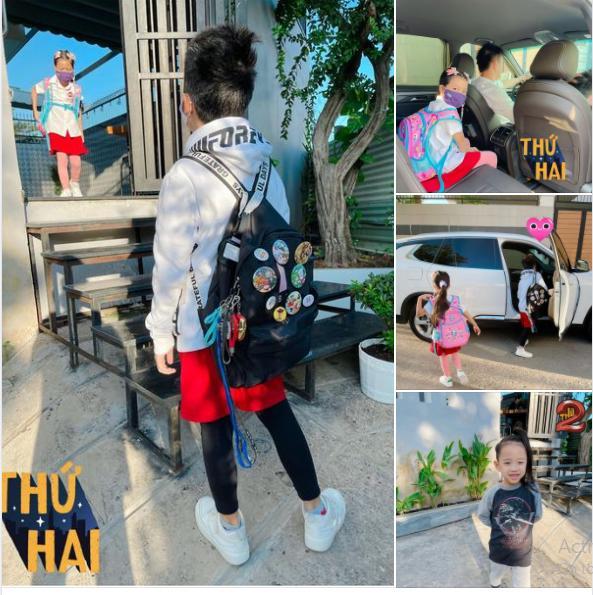 1.001 biểu cảm các nhóc tỳ nhà sao Việt khi quay lại trường học-8