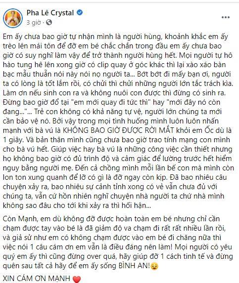 Sao Việt phẫn nộ khi người cứu bé gái rơi từ tầng 13 bị chỉ trích ngược-6