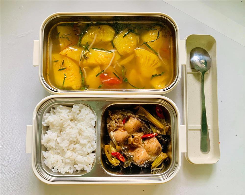 Ngày nào cũng dậy sớm nấu ăn mang đi làm, hộp cơm trưa của 9x được khen nức nở-6