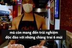 Nhà hàng lẩu thuê nam người mẫu ngực trần làm phục vụ
