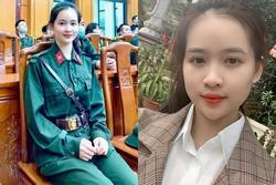 Nhan sắc đời thường của nữ tân binh Yên Bái tự nguyện nhập ngũ