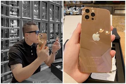 Vũ Khắc Tiệp được tặng iPhone mạ vàng 18k giá 250 triệu đồng