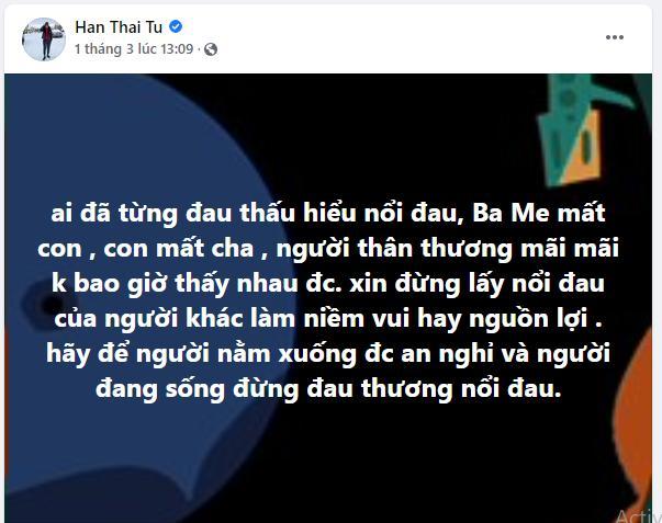 Thánh phím trù ẻo Hàn Thái Tú sau lời cảm ơn của vợ Vân Quang Long-1