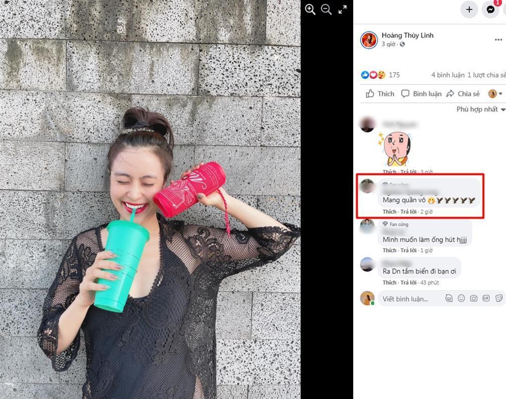 Hoàng Thùy Linh khoe hình áo tắm sexy nhưng bị nhắc nhở: Mặc quần vào-6