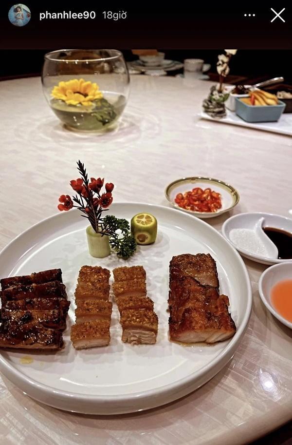 Từ ngày cưới tổng giám đốc cứ thấy Phanh Lee khoe những bữa ăn hào môn suốt!-4