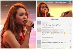 Đoạn clip Minh Hằng hát live thảm họa được mang ra so sánh với Chi Pu
