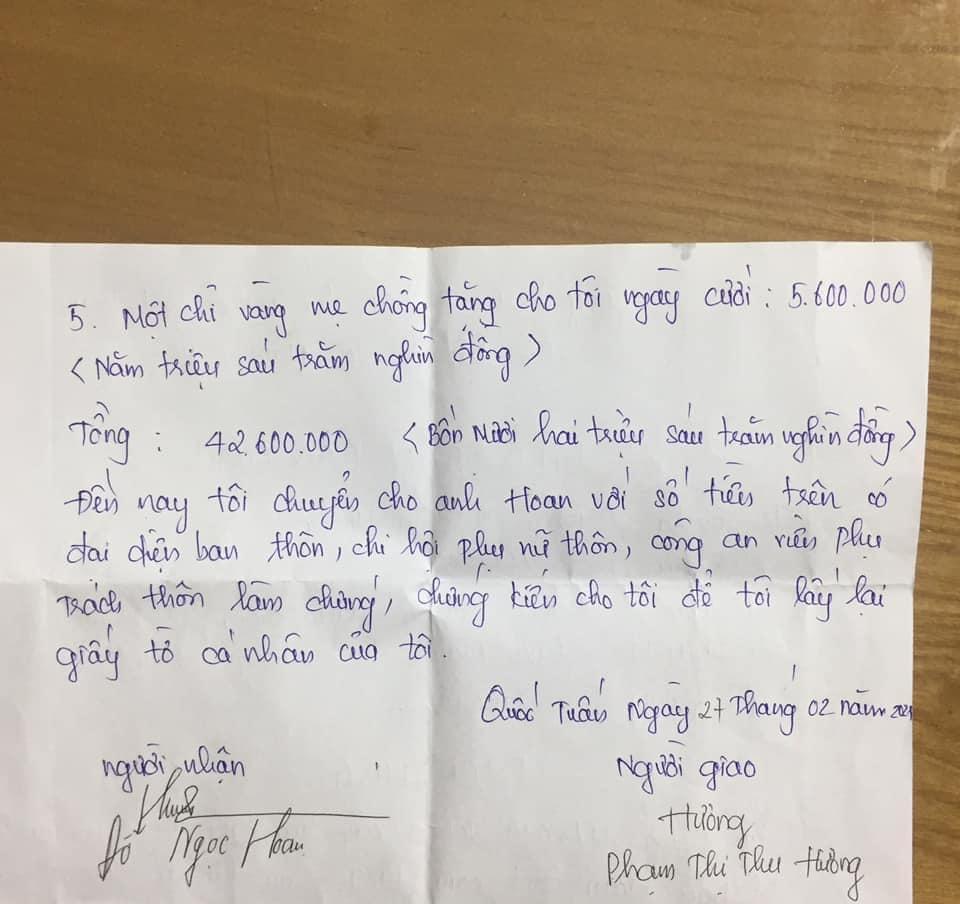 Để được ly hôn, vợ phải ký biên bản trả lại cho chồng toàn bộ tiền đã ăn-3