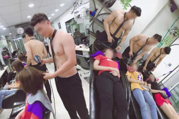 Salon tóc thuê dàn trai 6 múi cởi trần phục vụ chị em gây tranh cãi-3