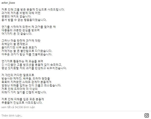 Tài tử Kim Ji Soo thừa nhận trùm sò bạo lực học đường thối nát-3