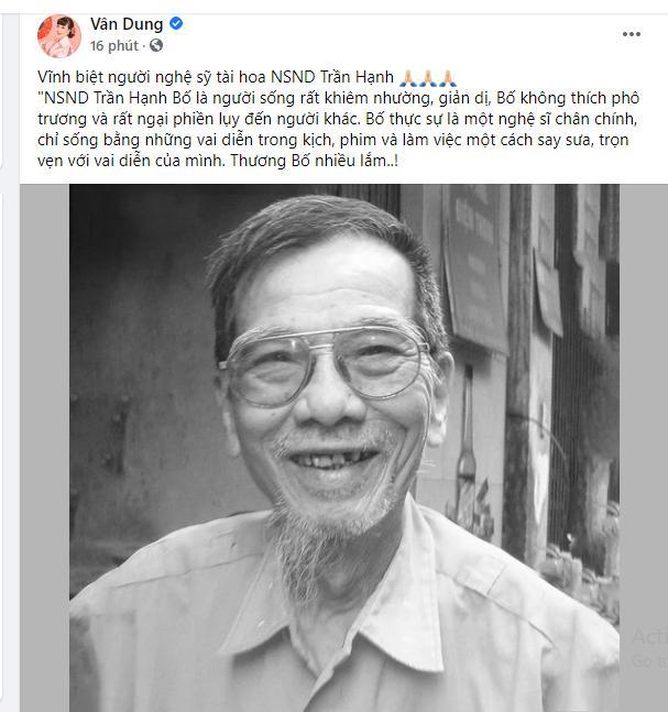 Dàn sao Việt tiếc thương NSND Trần Hạnh: Vĩnh biệt bố Hạnh-2