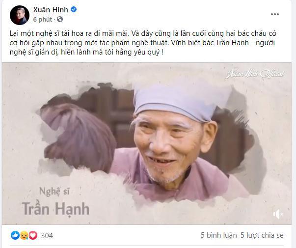 Dàn sao Việt tiếc thương NSND Trần Hạnh: Vĩnh biệt bố Hạnh-1
