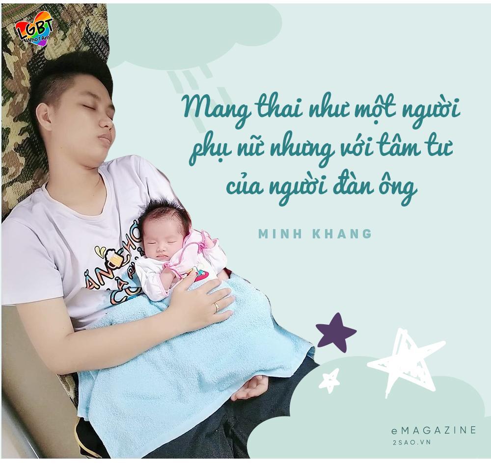 4 tháng gà trống nuôi con của người đàn ông Việt Nam đầu tiên mang thai-5