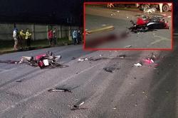 Xe máy đâm nhau nát bươm ở Sài Gòn làm 4 người bất tỉnh , 2 người tử vong
