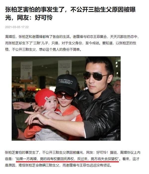 Hé lộ bản thỏa thuận hậu ly hôn của Trương Bá Chi và Tạ Đình Phong-1