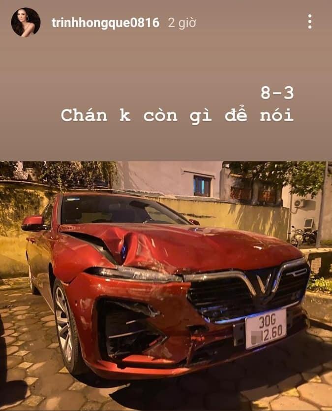 Xế mới tậu của Hồng Quế nát banh, nghi tai nạn nghiêm trọng-2