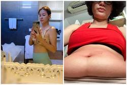 Trang Trần khoe 'bé mỡ' bèo nhèo như vừa mới đẻ xong