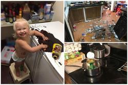 'Sang chấn tâm lý' khi nhìn thấy 'bãi chiến trường' tụi trẻ tạo ra trong bếp