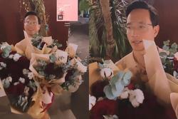 Kim Lý chiếm spotlight 8/3 bằng 5 bó hoa, còn bonus nói tiếng Việt