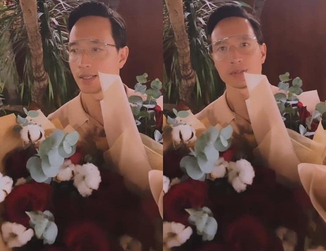 Kim Lý chiếm spotlight 8/3 bằng 5 bó hoa, còn bonus nói tiếng Việt-3