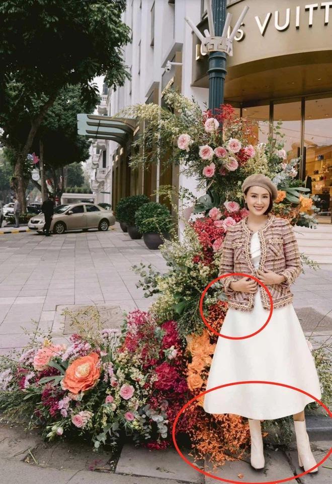 Hồng Diễm - Bảo Thanh lộ trình photoshop giả trân bên cột đèn hoa-7