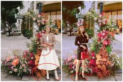 Hồng Diễm - Bảo Thanh lộ trình photoshop 'giả trân' bên cột đèn hoa