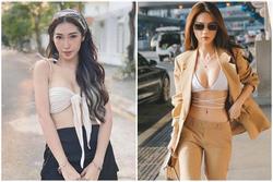'Nối gót' Ngọc Trinh, Khổng Tú Quỳnh diện áo bikini xuống phố