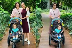 Thu Minh - Hoàng Oanh thân thiết nhờ mắc kẹt ở Singapore