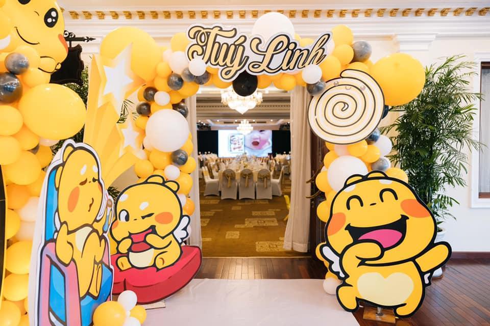 Tiệc sinh nhật 1 tuổi chuẩn rich kid của cháu gái Trấn Thành-3