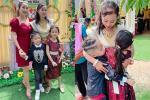Ốc Thanh Vân và đàn con bịn rịn khi giúp việc đi lấy chồng