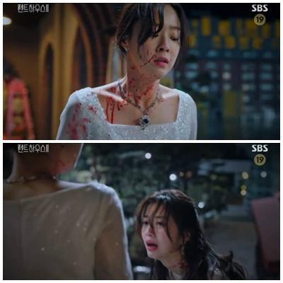 Điều gì khiến ác nữ Cheon Seo Jin quỳ gối trong tập 7 Penthouse 2?-1