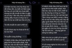 Xôn xao loạt tin nhắn 'thần y' Võ Hoàng Yên 'cạo đầu, tự tử'