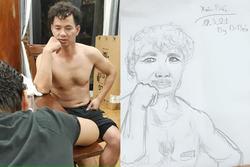 Con trai nghệ sĩ Xuân Bắc trổ tài vẽ bố, cái kết làm ai cũng ám ảnh