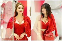 'Đụng hàng' váy áo, Quỳnh Nga - Lynk Lee đọ vòng 1 nâng cấp