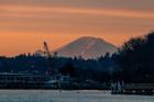 Cảnh mặt trời mọc tuyệt đẹp ở Washington